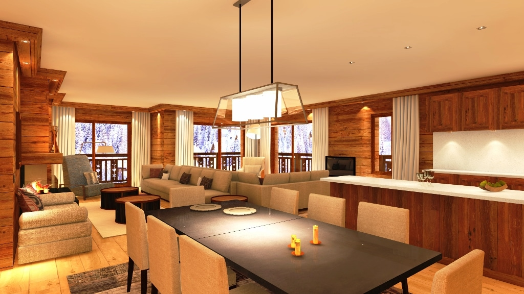 Classic Freehold Ski Apartments For Sale In Meribel 4 ...