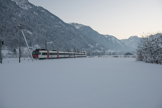 Train travel to alps