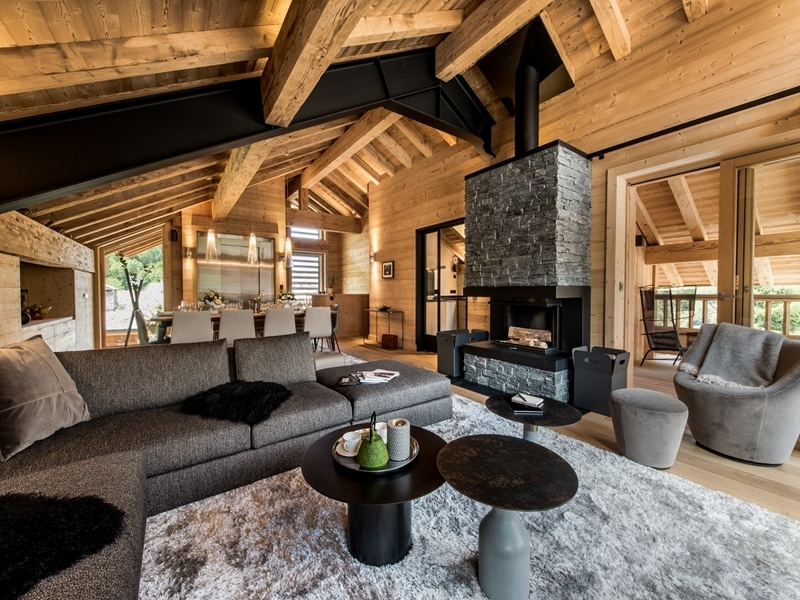 luxury ski chalets in French Alps