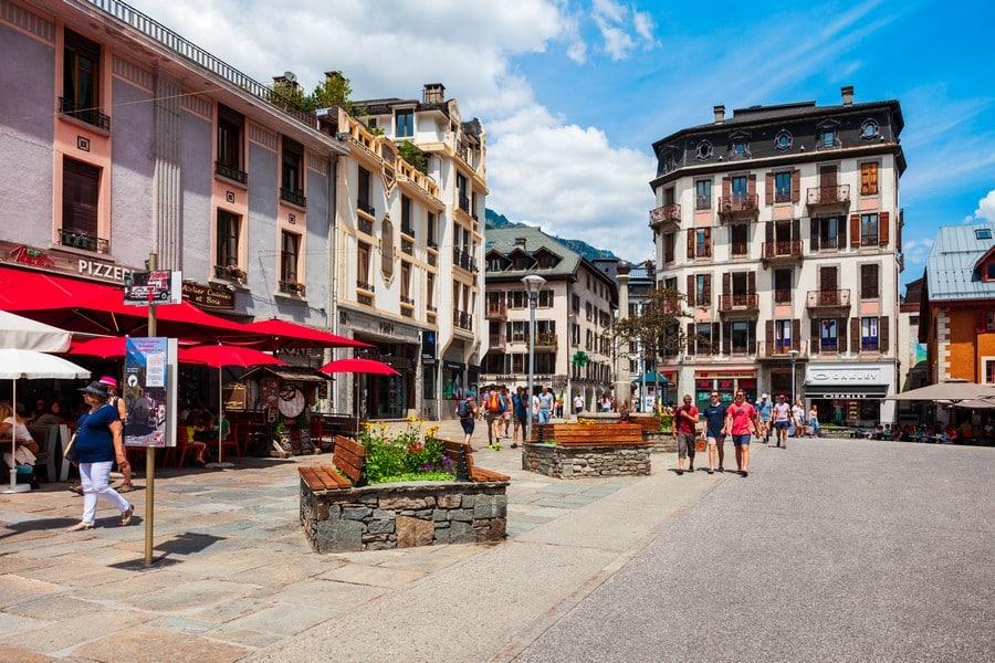 Chamonix Mont Blanc town, France