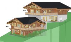 Semi-Detached Chalets With Incredible Views For Sale In Chatel