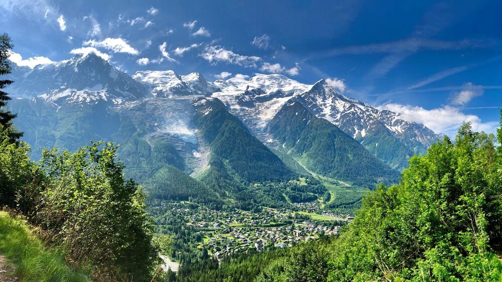 Best places to buy a ski property: View from Le Bossons, Chamonix